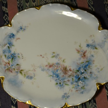Beautiful Victorian Dresser Plate - H & Co., France - Haviland