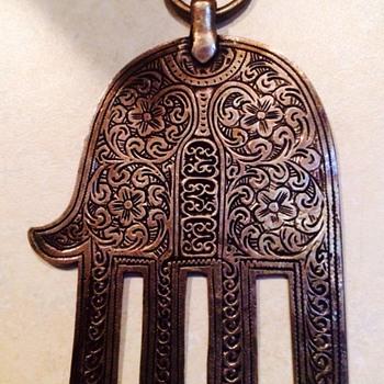 Antique Silver Hand Amulet