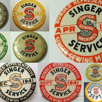 Singer  Badges &amp;  Pinbacks - Sewing