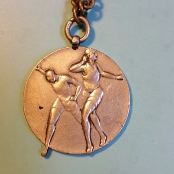 Track and Field?? Medal from WWII era Japan, I think - Sporting Goods
