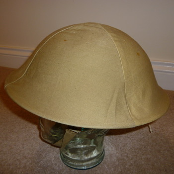 British WWII helmet cammo cover