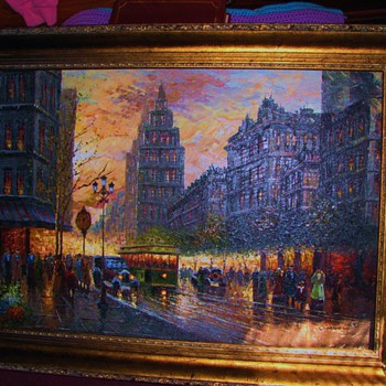 Original Oil Painting Cityscape