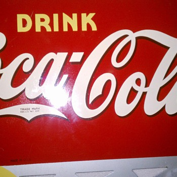 1940 Coke Cola flange sign