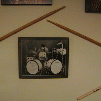 Louie Bellson Used Drumsticks & Autographed Photo