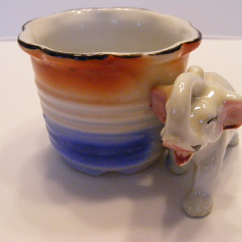 Goofy little elephant cup.