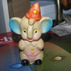 Vintage rubber toy elephant