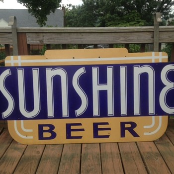 Sunshine Beer Porcelain Sign