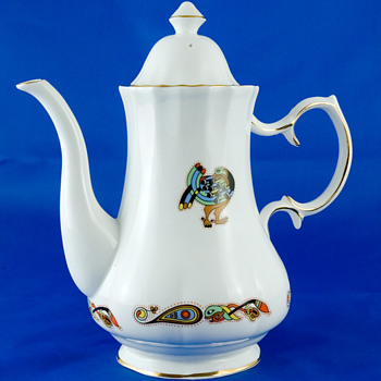 #5 Royal Tara Bone China Coffee Pot - China and Dinnerware