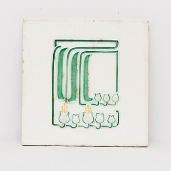 Jugendstil Tile (Germany), ca. 1905