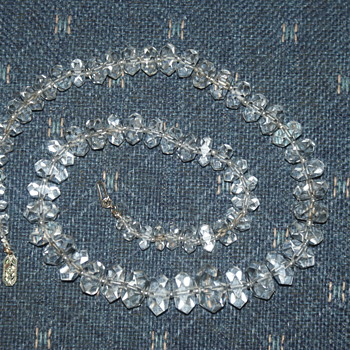 Update:  Re-Strung Vintage Crystal Necklace - Costume Jewelry