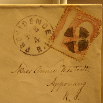 Providence R.I. 3-Cent George Washington Cancelled Stamp beleive to be from 186? - Stamps