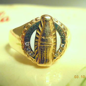 Coca-Cola 30 Yr. Service Award Ring