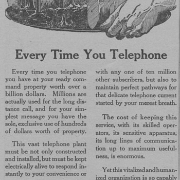 1919 - AT&amp;T Advertisement