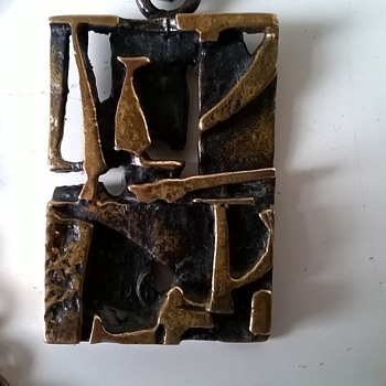 1970s Jorma Laine Finland Signed Modernist Bronze Necklace Flea Market Find $3.00 - Fine Jewelry