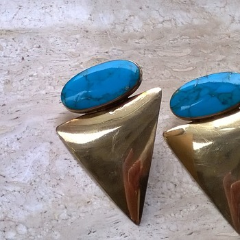 Gold Over Sterling Silver/Lapis Lazuli Earrings