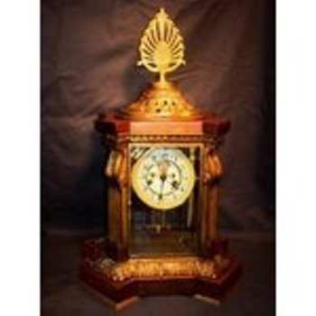 rare crystal regulator waterbury clock - Clocks