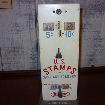 5 cent 10 cent postage stamp dispenser - Coin Operated