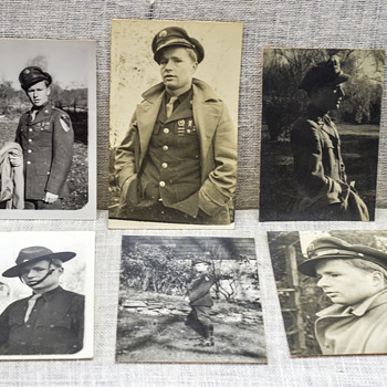 Photos of a Soldier and News Clipping - Photographs
