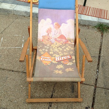 Orange Crush Hirse Root Beer Beach Lounge Chair - Advertising