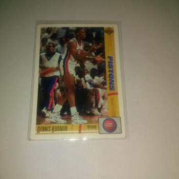 91-92  upper deck Piston Dennis Rodman # 185 - Basketball