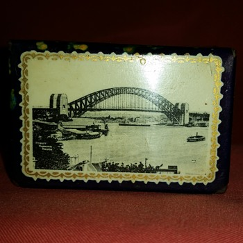 Sydney Harbour Bridge Matchbox Holder - Tobacciana