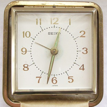 1960s-travel alarm clock-seiko-fred olsen lines. - Clocks