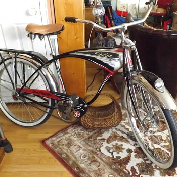 1949 Schwinn Black Phantom Bicycle - Sporting Goods