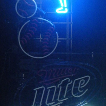 Miller Lite Sequencing Baseball Neon Sign - Breweriana