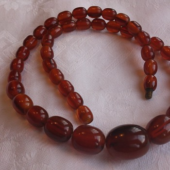 Another old necklace, probably bakelite  - Costume Jewelry