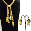 Vintage Napier Colorful Oriental Charms Set of Necklace and Earrings