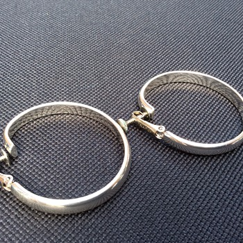 Antique Napier silver earrings