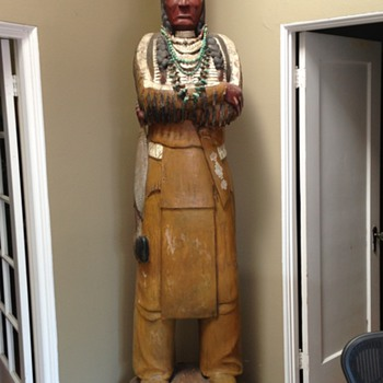 Vintage Carved Cigar Store Indian * Native American - Advertising
