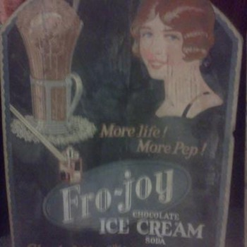Fro-joy Ice Cream Advertisements