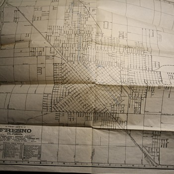 1898 Map of Fresno, California - Paper