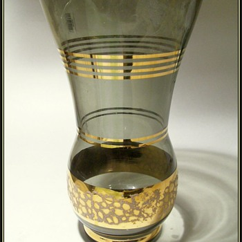 Unknown Glass Vase -- Gold Gilt Trim
