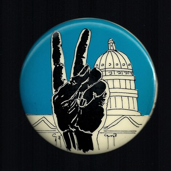 Anti Vietnam War Rally / March pinback buttons