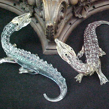 Murano Venetian Art Glass Crocodiles.... - Art Glass