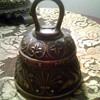 Bronze Bell Latin Script with Animals