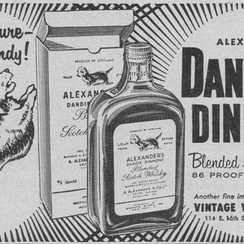 1955 Dandie Dinmont Scotch Advertisement