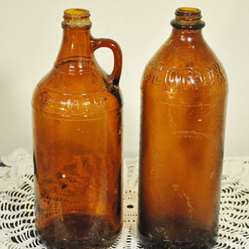 Brown Half-Gallon Clorox Bottle - Bottles