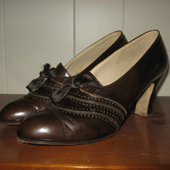 Vintage Tie up oxford heels ladies shoes