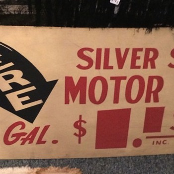 Silver Shell Masonite Sign