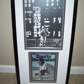 My Sandy Koufax Autographed Sports Illustrated Cover