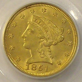 1851 & 1901 U.S. Gold Quarter Eagles