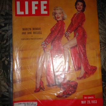 LIFE magazine, May 25, 1953. Marilyn Monroe and Jane Russell