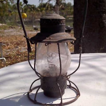 B & O Rail Road Oil Lamp - Railroadiana