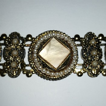 Intricate link bracelet - Costume Jewelry