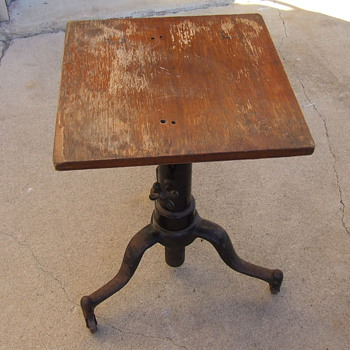 Restored 1920's Cast Iron Three Legged Typewriter Stand - Furniture