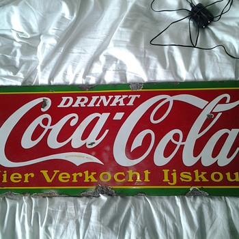 My 1939 belgian porcelain coke sign