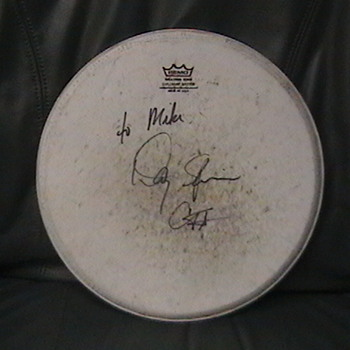 Autographed Drum Head Used by Danny Seriphine of Chicago
